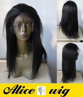 (free shipping + top quality )1#18inch yaki stright wave 100% indian human wigs Front Lace Wig glueless Wig ys015