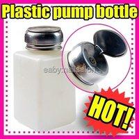 10pcs/lot Original New Empty Pump Dispenser For Nail Art Polish Remover 200ML Bottle #1408