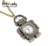 Artilady  gold bad robot design pocket watch chains necklaces jewelry