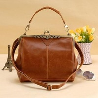 Free Shipping GK Retro Vintage Ladies Kisslock Shoulder Purse Handbag Totes Bag BG49