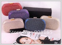 Free Shipping! Fashion evening bag,  women rivet purse, lady handbag,  clutch bag, 5 colours, Retail&Wholesale