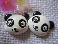 flat back resin panda for phone decoration 12pcs/lot