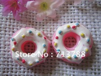 flat back resin donuts for phone decoration 30pcs/lot