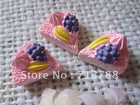 flat back resin cake  for phone decoration 30pcs/lot
