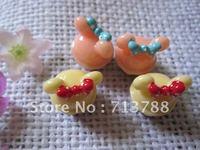 flat back resin cake  for phone decoration 30pcs/lotl(each color15pcs)