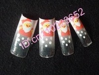 70x NEW airbrush Christmas design nail tips designer XMAS nail art,70tips/pack #1765
