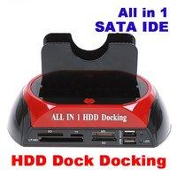 "Promotion!!! New 100% 1Pcs 2.5/3.5"" SATA HDD Docking Station USB 2.0 Hard Drive Disk Dock Hub/e-SATA AC Adapter +Free Shipping"