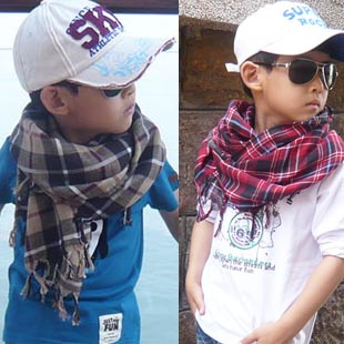 Free shipping cotton children's Soft Fashion  Wrap Scarf Shawl  Neckerchief  *children clothing