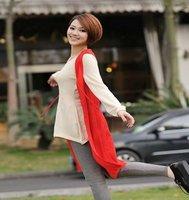8676 Stunning Sleeveless Beads Long Jacket Vest Coat Knitwear Winter Dress Knitting Waist Coat