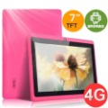 Q88 Allwinner A13 4GB DDR3 512MB 7inch Capacity Touch Screen Android 4.0 Camera Tablet PC- Pink