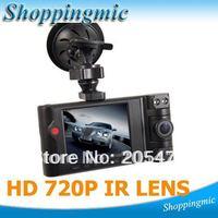 2012 Dual Lens 2.7 Inch LCD Car Cam Dash DVR Video Recorder Vehicle camera Dashboard Free Shipping, Dropshipping