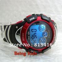 OHSEN  Free shipping Red Color Smart Sport Digital  Men Women Boy AL 7 color BackLight  Soft Rubber Strap Wrist Watches New