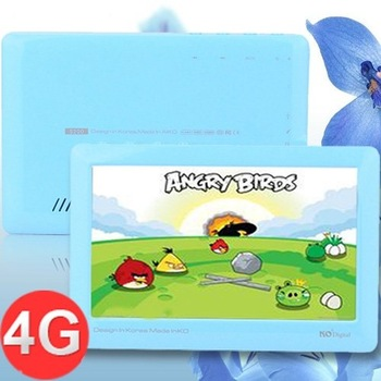 "KO S200 4GB 4.3"" Touch Screen TV Output TF Card Slot MP4 PMP VIdeo Player - Blue"