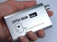 SILVER HiFi Portable Rechargeable Tube value vacuum headphone amplifier amp Li-battery