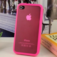 High Quality New TPU Rubber Skin Case For Iphone 4 4G 4S, TPU Case for iPhone 4 4S Free Shipping