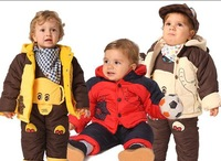 Free shipping!Fashion super thick Baby clothing, hello Kitty, boys and girls cotton - padded  winter coat, winter jacket !