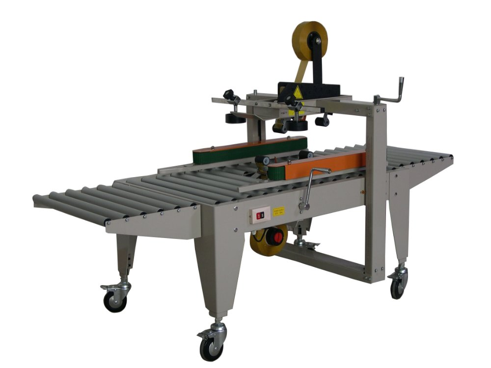 Carton sealer (left and right belts ), semi-automatic, single person operate, low price, looking for regional distributor.(China (Mainland))