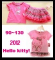 90~130 Kids suit Hello kitty Blouses + TUTU dress =set 5set/lot Children clothing suit
