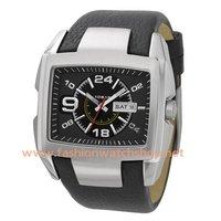 New Stainless Steel Case Wide Cuff Leather Strap Quartz Watch DZ1215 Fashion Pop