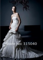 Free ship Pleat Lace Bridesmaid Evening Wedding Dress Prom Custom Made Size 6-8-10-12-14  #N609