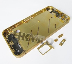 Gold Plating Bezel Frame Middle Chassis Housing for iPhone 4G D0108(China (Mainland))