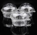 Wholesale 100PCS/LOT Plastic Single Individual Cupcake Muffin Dome Holders Cases Boxes Cups Pods Free Shipping