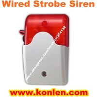 Wired warning strobe siren, flash siren for burglar alarm system,DC12V,100 to 170mA, free shipping