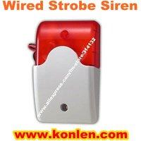 Wired warning strobe siren, flash siren for burglar alarm system,DC12V,100 to 170mA, free shipping