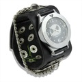 2012 New Arrival Cheap wrist watches for men with black leather band Analog Quartz Fashion WristWatch Bracelet PI0235