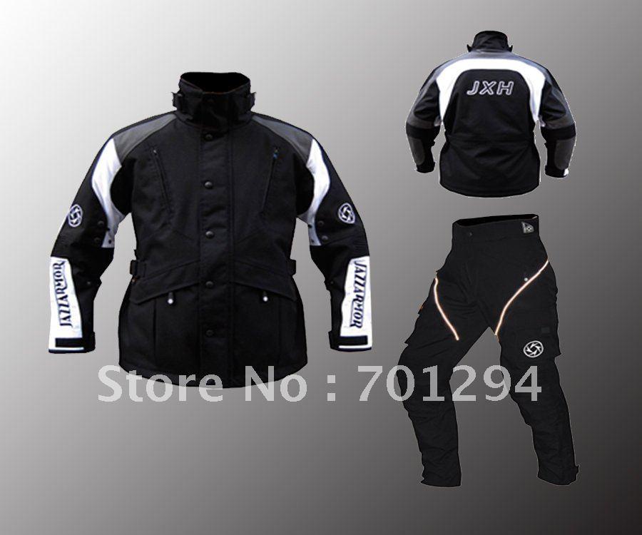 The 600D Nylon Reflective Motorcycle Long Jacket And Pants With Protectors(China (Mainland))