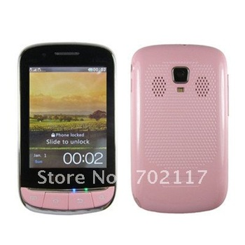 3860S 3.0''touch screen Java free Analog TV Dual sim Dual camera 3D sound multimedia cell Phone