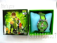New  Ben10 Kids Quartz Steel Wrist Watch lots  with Gift box 20pcs/lot +Free Shipping