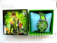 New  Ben10 Kids Quartz Steel Wrist Watch lots  with Gift box 20pcs/lot +Free Shipping