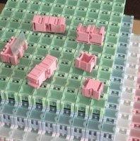 wholesale  free shipping 200pcs  DIY SMD SMT Electronic Component Mini Storage box 25 x 31.5 x 21.6mm