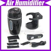 2 in1 USB Car Adaptor Mini Air Humidifier Fit Car Office Home #1215