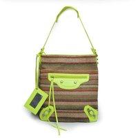 2013 TMC Fashion Designe Totes Bag Fashion Women Summer Handbags PU +Straw Canvas Shoulder Hobo Bags YL612