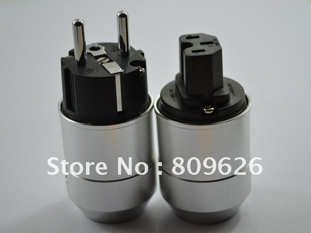 High End SONAR Rhodium-plated Male EUR AC power plug hifi IEC connector power jack with original box(China (Mainland))
