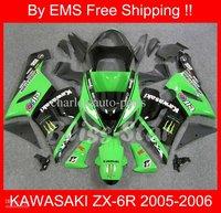 1608 EMS Free Shipp fairing kit for KAWASAKI ZX-6R 05 06 ZX6R 2005-2006 ZX 6R 05-06 2005 2006 Green