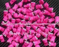 10pcs Freeshipping T10 4SMD pink/purple 3258 Car 194 168 192 W5W LED Light Automobile Bulbs Lamp Wedge Interior Light new