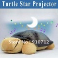 Free shipping Mini Projector Turtle Night Lights for Children Turtle Music Lights Animal Shape Holiday gift 3Color light(China (Mainland))