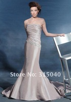 Taffeta Mermaid Evening Wedding Dress Prom Custom Made Size 6-8-10-12-14  #N616