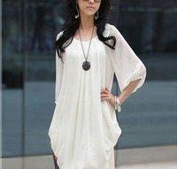 Женское платье A Women's gentlewomen stand collar long-sleeve high waist chiffon one-piece dress women's lace skirt female
