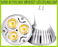 FREE SHIPPING M16/E27 3/4/5W AC110-240V LED CEILING BULBS ALUMINUM SHOOTING LIGHT HIGH QUALTITY