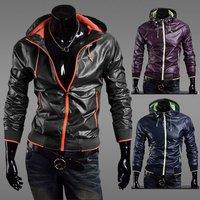 2012 NEW excellent quality, dropship quick dry elegant cool men's hoodies jacket coat