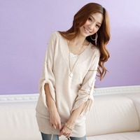 # 2014 in autumn 3114 the new loose V-neck the reflexed Sleeve sweater jacket