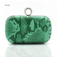 Free Shipping Green Chinese Women's PU Handbag Evening Bag Clutch BagHandmade Purse F009