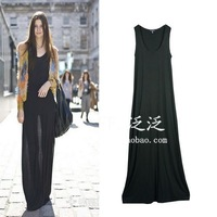 Fashion 2012 women's vest skirt one-piece dress modal full dress