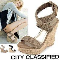 Туфли на высоком каблуке high quality fashion Platform Pumps peep toe wedge High Heels shoes Lady Shoes X1163