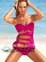 FREE SHIPPING Unsurpassable super sexy bikini original single conjoined twin swimsuit swimsuit female breast pad