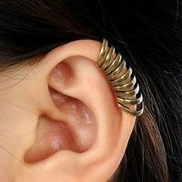 Wholesale 3pcs/lot New fashion Ring type ear cuff, punk ear clip